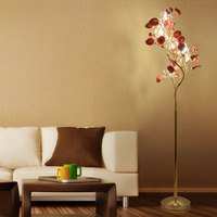 LED Christmas tree floor lamps modern wedding crystal floor lamp with ceramics flower living room Sofa floor lighting Lambader