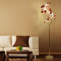 Led 크리스마스 트리 플로어 램프 현대 웨딩 크리스탈 플로어 램프 도자기 꽃 거실 소파 플로어 조명 lambader