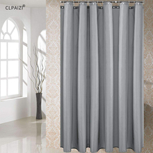 CLPAIZI Solid Color Shower Curtain Waterproof Mildew Proof With Hooks Bathroom Accessories Bath D30