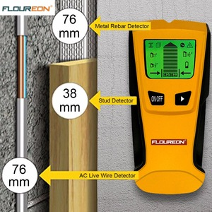 Image 2 - Detector de Metales 3 en 1 de Floureon, escáner de pared de cable vivo de voltaje CA, Detector de caja eléctrica portátil de Metal con pasador de madera
