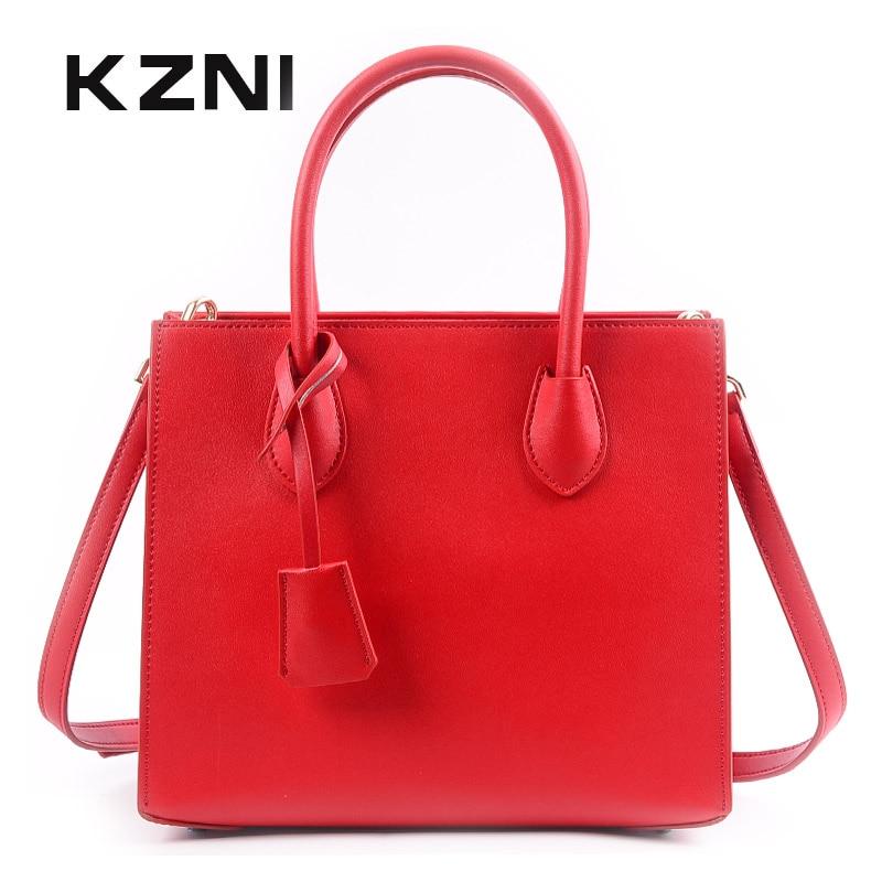 KZNI women bag genuine leather purses and handbags female cross shoulder bags for girl bolsa feminina sac a main femme 9137 свитшот print bar flower birds