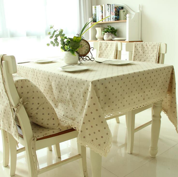 NEW European Pastrol Tablecloth <font><b>Cotton</b></font> <font><b>Linen</b></font> Dinner Table Cloth Insect Macrame Decoration Lacy Table Cover Pastoral Washable image