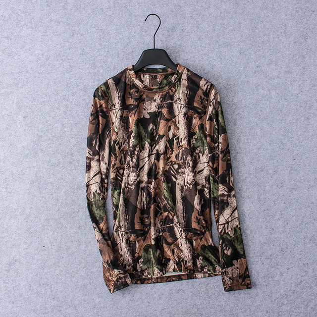 f31f3135 2019 Men Hunting LS T-shirt Camouflage Quick-dry UV Men Hunting Shirts  Outdoor Sports Hiking Fleece Clothing USA Size S