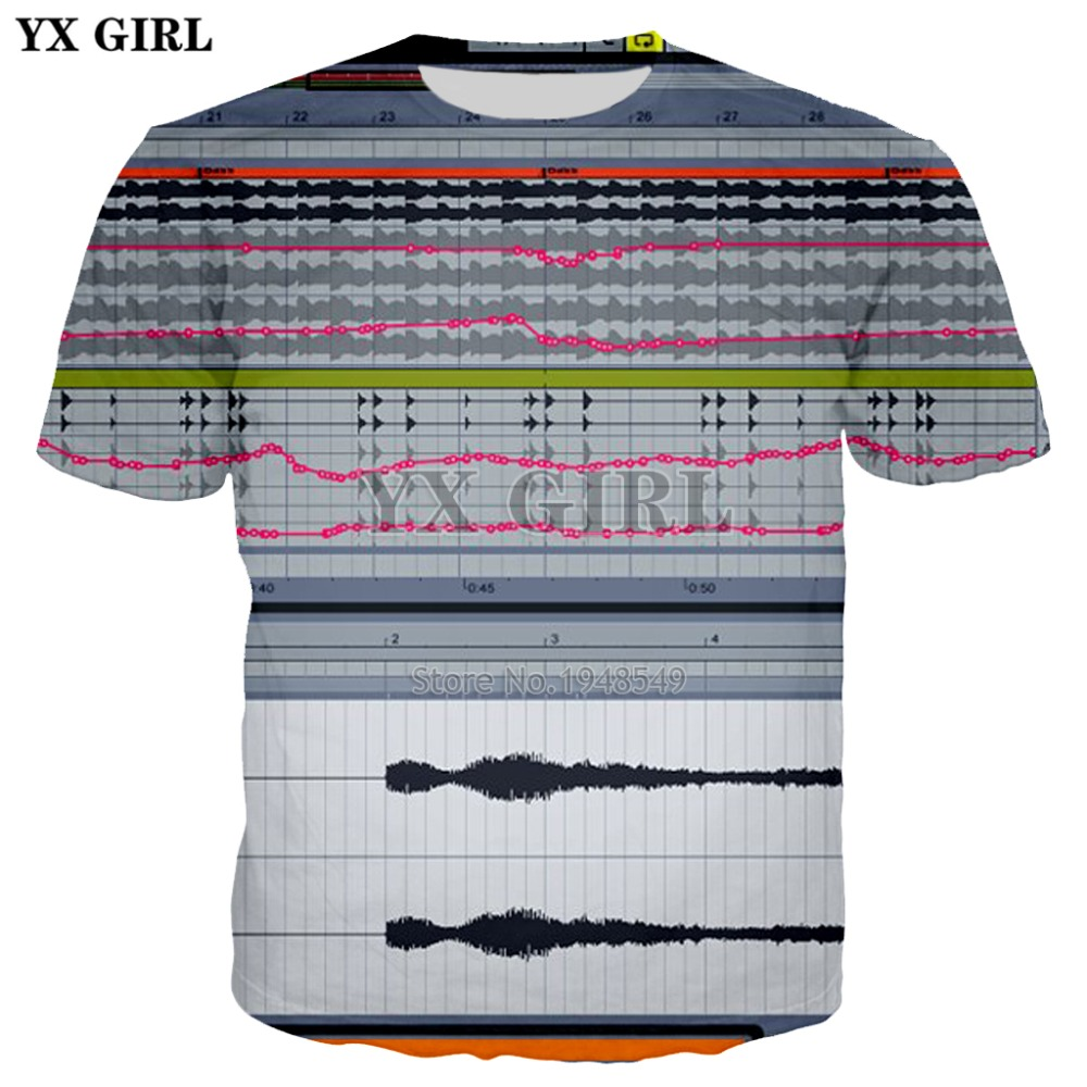 YX GIRL Drop shipping 2018 summer New Fashion Mens Womens T-shirt ableton live Print T shirts Unisex Casual Cool t shirt
