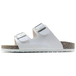 Image 5 - 新 2019 夏のスタイルの靴女性サンダルコルクサンダルトップ品質バックルカジュアルスリッパフリップフロッププラスサイズ 6  11 無料 S
