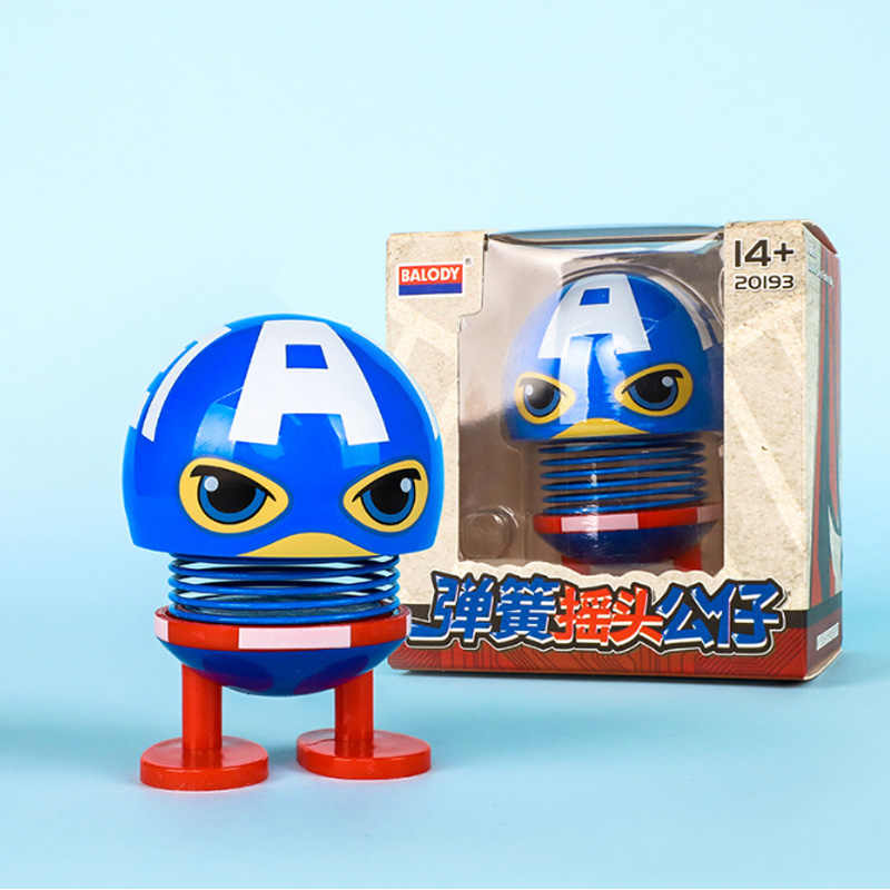 Мстители 4 капитан Железный человек Америка Человек-паук Креативные украшения автомобиля качели милая кукла украшение интерьера автомобиля Фигурки игрушки
