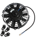 "GTFS-Easy Install 7"" inch Electric Radiator/Intercooler DC 12V 80W Slim Cooling Fan + Fitting Kit"