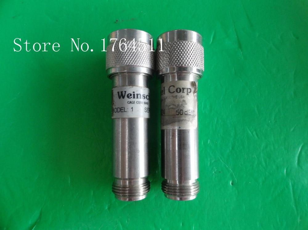 [BELLA] WEINSCHEL 1-50 DC-12.4GHz 50dB 5W N Coaxial Fixed Attenuator