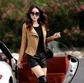 Верхняя одежда женщин мотоцикл кожаные куртки женский полупальто горячая пиджаки бесплатная доставка giacca ди pelle femminile Z926