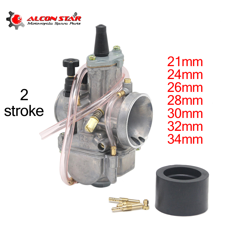 Alconstar-21 24 26 28 30 32 34mm 2 Stroke Engine Motorcycle PWK Carburetor With Power Jet For Honda For Suzuki ATV UTV Pit Bike
