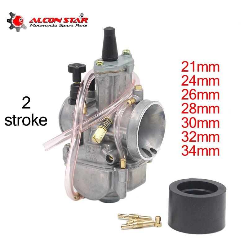 Alconstar-21 24 26 28 30 32 34mm 2 tiempos motor motocicleta PWK carburador con chorro de energía para Honda para suzuki ATV UTV Pit Bike