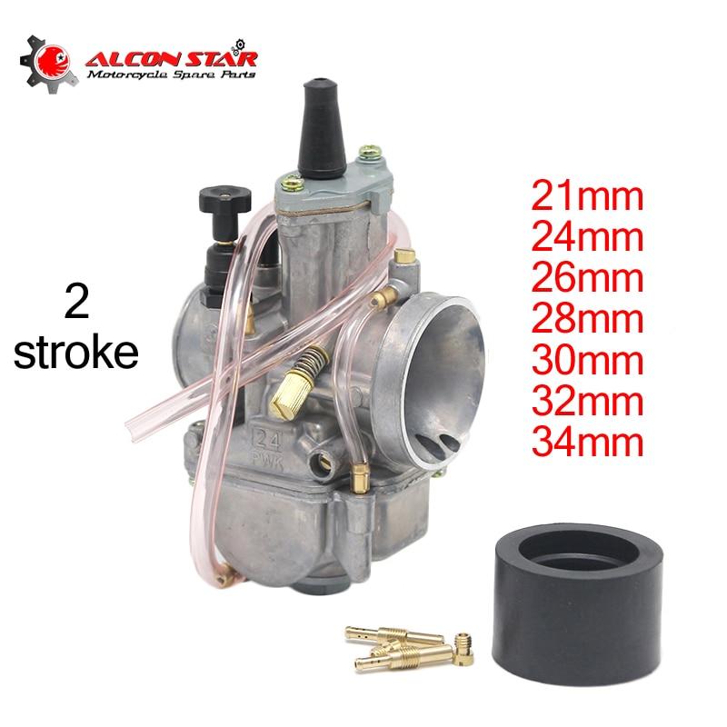 Alconstar-21 24 26 28 30 32 34mm 2 tempos motor da motocicleta pwk carburador com jato de potência para honda para suzuki atv utv pit bike