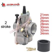 Carburateur à 2 temps avec réacteur puissant, pour moto Honda, Suzuki ATV UTV, moto Pit Bike, Alconstar 21, 24, 26, 28, 30, 32, 34mm