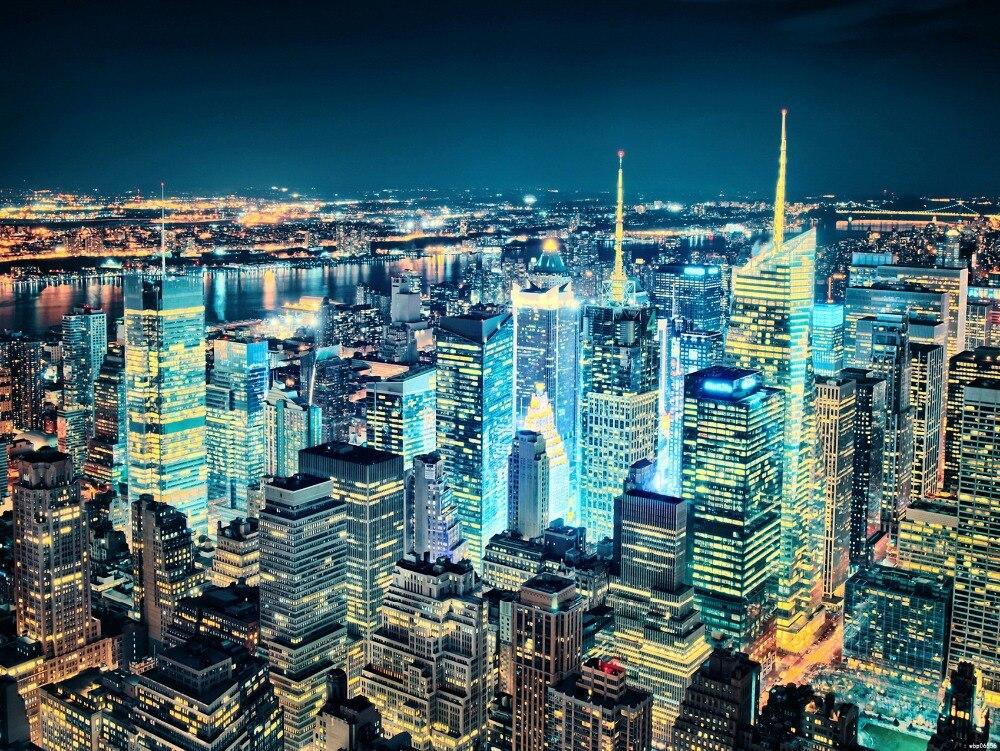 New York City Lights NY Night Print Poster 24