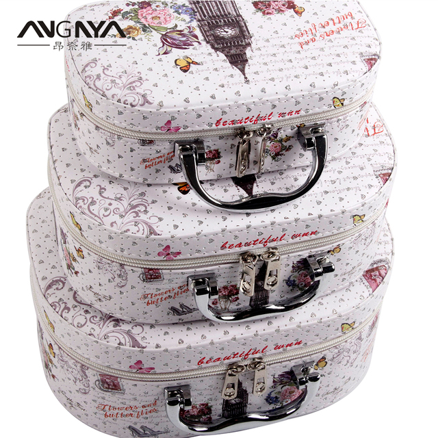 c3345878e8fa US $37.35 25% OFF|3Pcs/Set ANGNYA Flower and Butterflies Printed PU Leather  Cosmetic Bag Travel Organizer Makeup Box Wash Toiletry Case For Women-in ...
