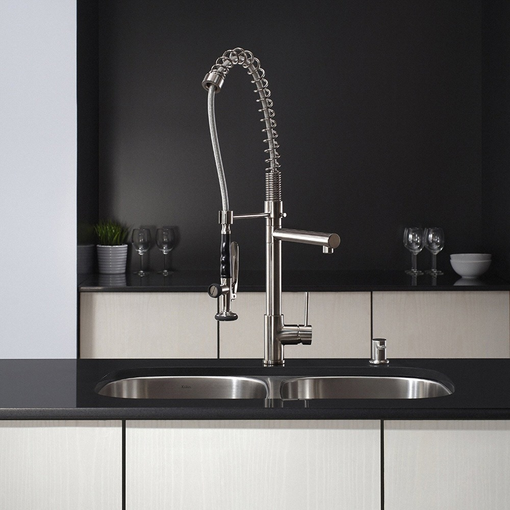 304 Stainless Steel Single Handle Pull Down Kitchen Faucet ...