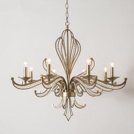 modern led chandelier for living room bedroom dining room iron lustre crystal chandelier home chandelier lamp lighting Pendant Lights     - title=