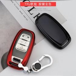 Samochód TPU zdalny inteligentny klucz pokrywa Fob Case Shell dla Audi A1 A3 A4 A5 A6 A7 A8 Quattro Q3 Q5 Q7 2009 2010 2011 2012 2013 2014 2015 w Etui na kluczyki samochodowe od Samochody i motocykle na