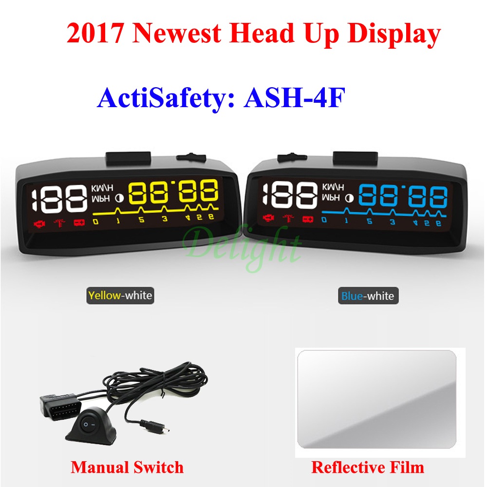 4F Car OBDII EUOBD HUD OBD2 Auto Head Up Display KM/H MPH ...