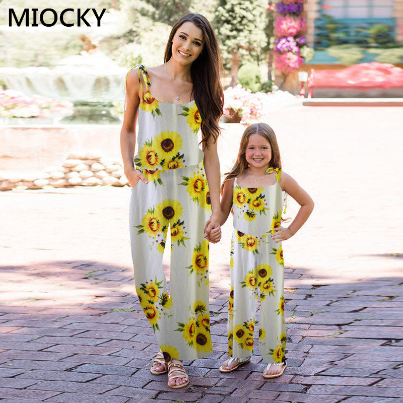 NASHAKAITE-Family-matching-clothes-Bohemian-Print-Shoulder-Bandage-Jumpsuit-Mommy-and-me-Jumpsuits-Mother-and-Daughter (2)