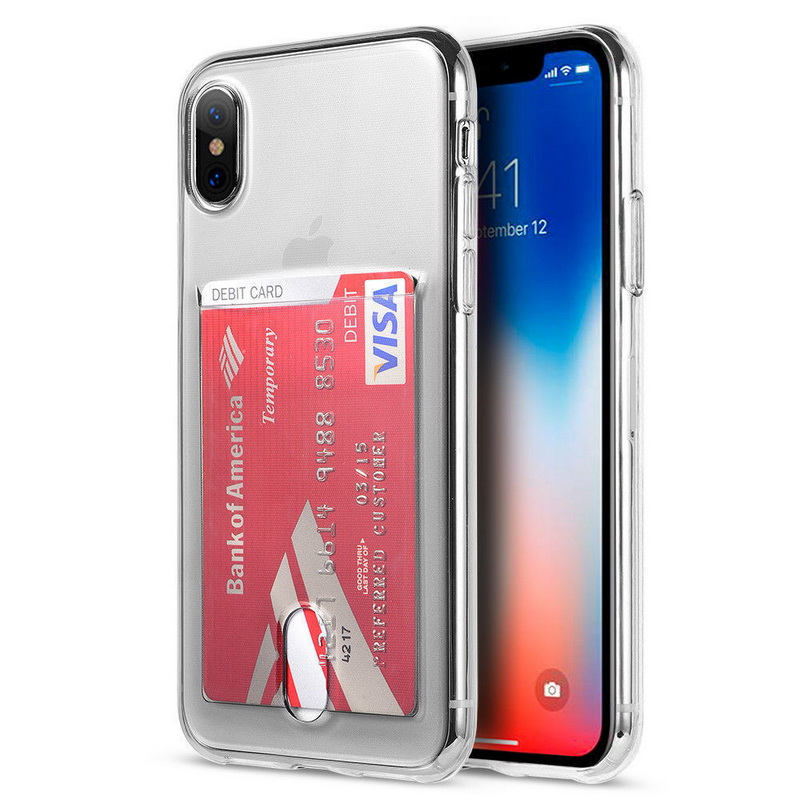 Transparent Soft TPU Card Holder Case for iPhone 11/11 Pro/11 Pro Max 30