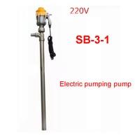 SB 3 1 Electrical Barrel Pump Explosion Proof Motor Stainless Steel 150L/min 220V/50Hz 50/25MM Electrical Liquid Pump 880W