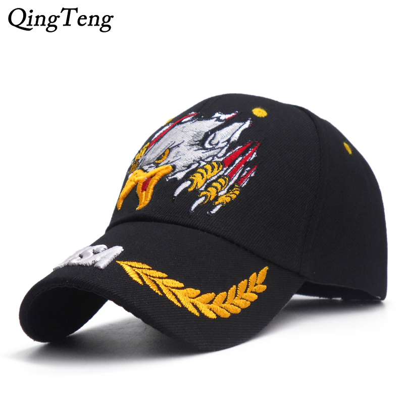 f037cc52100 High Quality Embroidery Eagle Baseball Cap Men Outdoor Sports Military Dad  Hat Usa Army Snapback Caps
