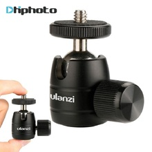 Ulanzi U-30 CNC Metal Mini Tripod Ball Head Ballhead with 1/4″ thread,Tripod head for iPhone X Smartphone/lightweight Cameras