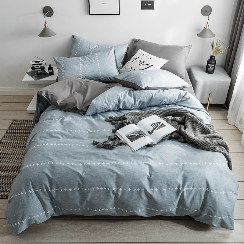 Stylish Blue White Decorative Pattern 3/4pcs Cotton Flamingo Bedding Set Twin Queen King Size Bed Set Duvet Cover Bed Sheet Set Stylish Blue White Decorative Pattern 3/4pcs Cotton Flamingo Bedding Set Twin Queen King Size Bed Set Duvet Cover Bed Sheet Set
