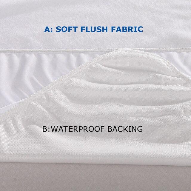 Single Size For Kids Soft Fleece Cloth 100 Waterproof Mattress