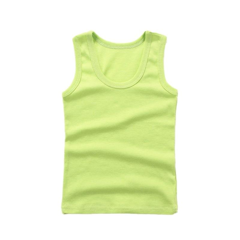 3-8Y Kids Underwear Cotton Girls Boys Tanks Tops Baby Boy Summer Vest Girl Camisole Children Solid Undershirt Sleeveless Vest 3