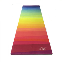 183cm*61cm*3.5mm Natural Rubber Absorb Sweat Comfortable Suede Fabric Non Slip Lose Exercise Yoga Mat
