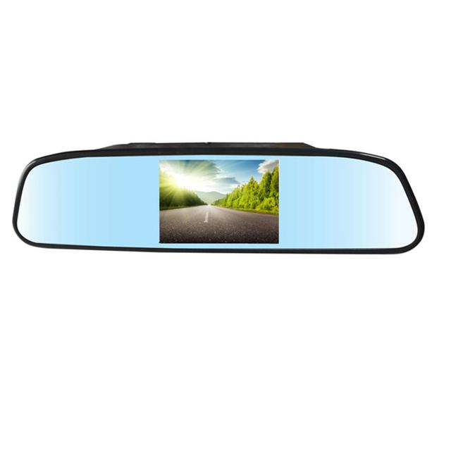 Alta Qualidade 4.3 Polegada Monitor Espelho Retrovisor Do Carro Câmera de Visão Traseira Invertendo 480x272 Rácio de Resolução-Car styling DIODO EMISSOR de luz