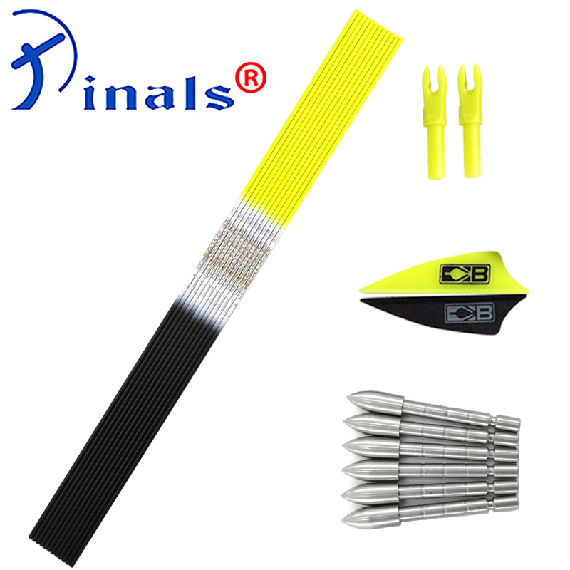 Inals Archery Spine 500 600 700 800 900 30 Inch Carbon Arrows Shaft Vanes Broadheads Pin