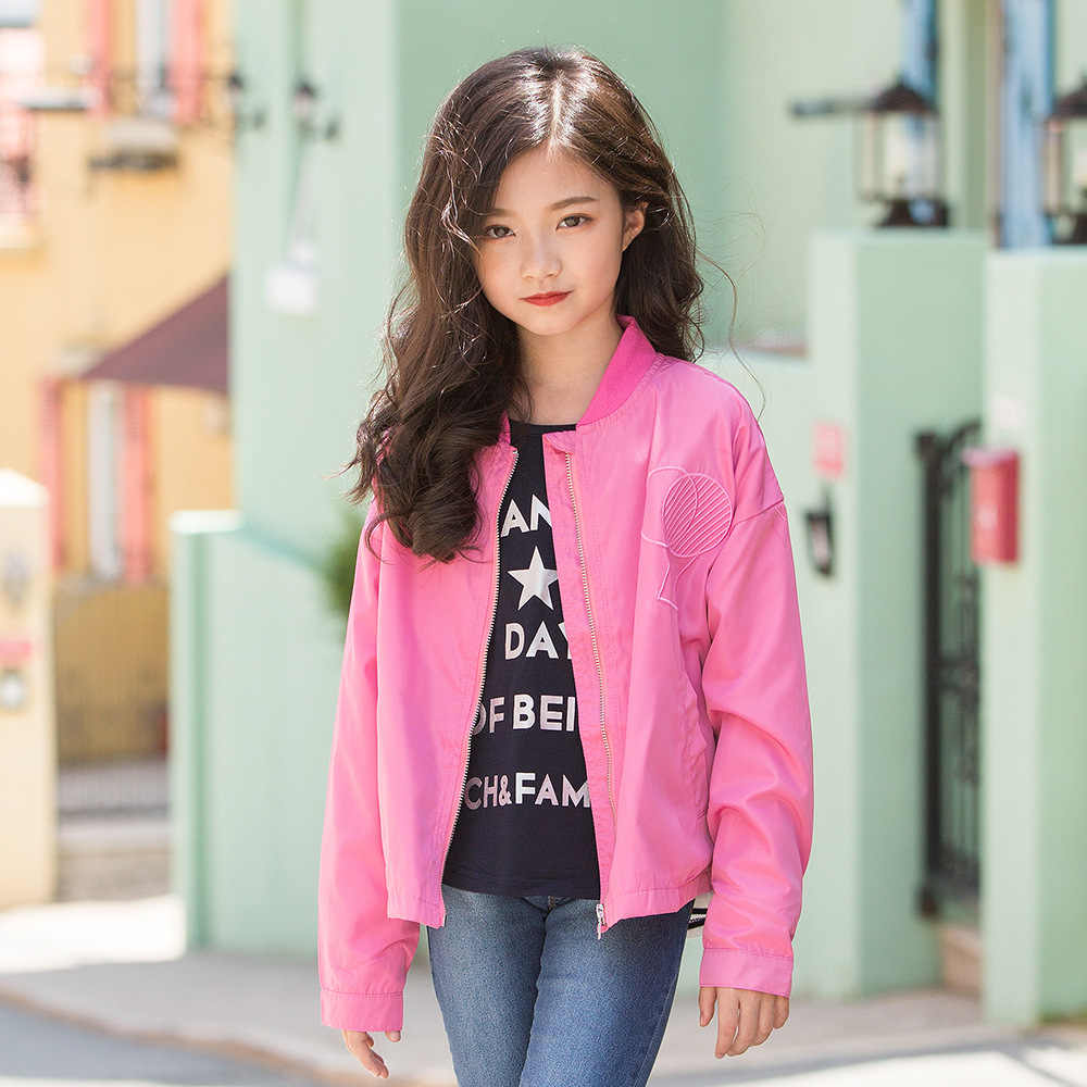 Girls' Autumn coat long sleeves 2018 new  boy Korean zipper jacket baseball suit children's wear