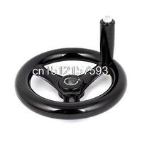 16mm X 160mm Revolving Hand Wheel Handwheel Black For Milling Machine