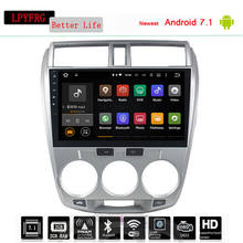 Touch Screen 10.2 inch 4G RAM Android 8.0 Car DVD Player GPS Navigation System Media Stereo Audio Video for Honda City 2006-2013(China)