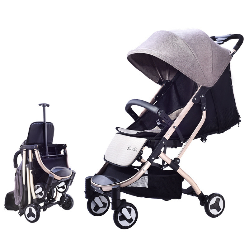 Portable Folding Light Baby Stroller Travel System Four Wheel High View Umbrella Can Lie Sit Jogging Baby Strollers Pram 0~4 YPortable Folding Light Baby Stroller Travel System Four Wheel High View Umbrella Can Lie Sit Jogging Baby Strollers Pram 0~4 Y