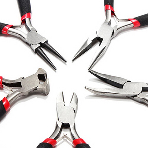 Image 2 - 5pcs/set 4.5inch  Mini Electronic Pliers Diagonal Side Cutting Pliers Cable Wire Cutter Repair Pry Open Tool