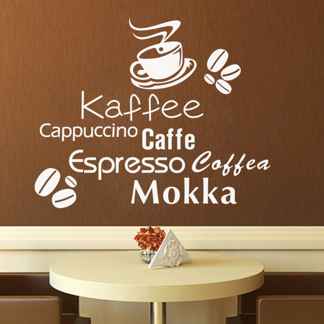 Aliexpress.com : Buy Delicious coffee cup vinyl quote wall Stickers ...