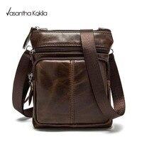 Business Men Genuine Leather Bag Natural Cowskin Men Messenger Bags Vintage Men S Cowhide Shoulder Crossbody