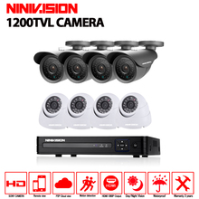 AHD 8CH font b CCTV b font System 1080P HDMI DVR 1200TVL indoor Outdoor Security Waterproof
