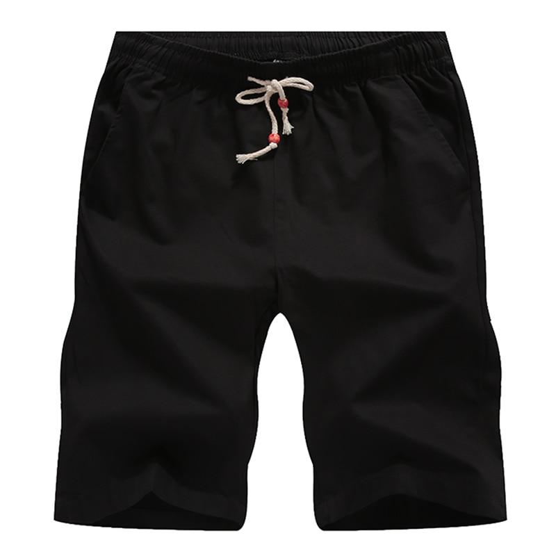 Zomer Katoenen Shorts Heren Modemerk Boardshorts Ademend Heren - Herenkleding - Foto 4