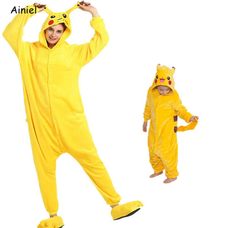 Аниме Покемон Onesie Pocket Monster для женщин обувь PIKACHU пижамы  фланелевые комбинезон одежда костюмы для косплея d77c5f318229a