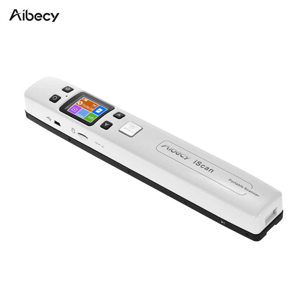 Wifi 1050DPI High Speed Portable Wand Document Images Scanner A4 Size JPG/PDF Formate LCD Display for Business Reciepts Books l1000 portable hd 10mp 3672x2856 usb camera photo image document book a3 a4 scanner visual presenter high speed ocr scanner a3