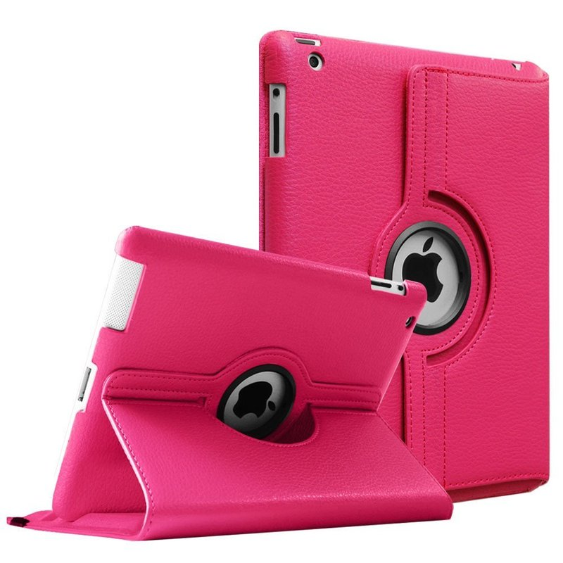MeasMate 360 Degrees Rotating PU Leather Flip Cover Case for iPad 2 3 4 Stand Cases