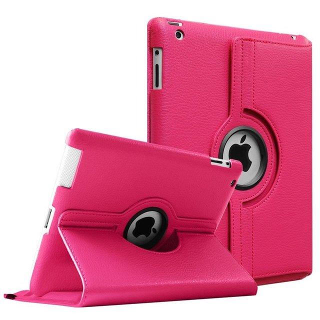 Funda abatible de cuero PU con rotación de 360 grados para iPad 2/3/4 funda con soporte para tableta inteligente a1395 A1396 A1416 A1430 A1458 A1460