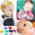 10 Pcs/lot Solid Dot Pringting Infant Baby Mini Small Bow Hair Clips Hair Clips Kids Hair Accessories