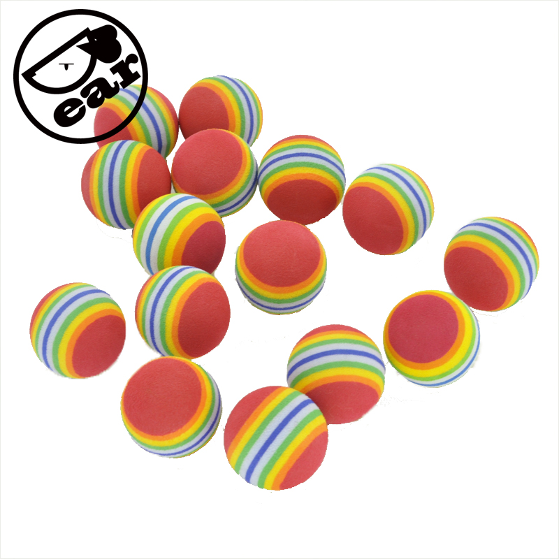 20pcs / lot Colorful Soft Foam Rainbow Play Balls For cat