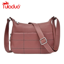 2019 Women Messenger Bags Small Leather Shoulder Bag Female Sac A Main Vintage Bags For Girls Hobos Vintage Crossbody Bag New недорого